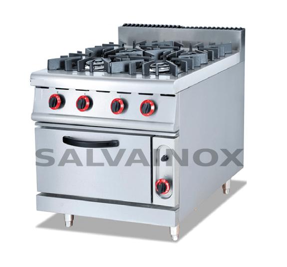 Cocina 4 fuegos con horno 70 75 la bomba maquinaria for Cocina 4 fuegos con horno a gas