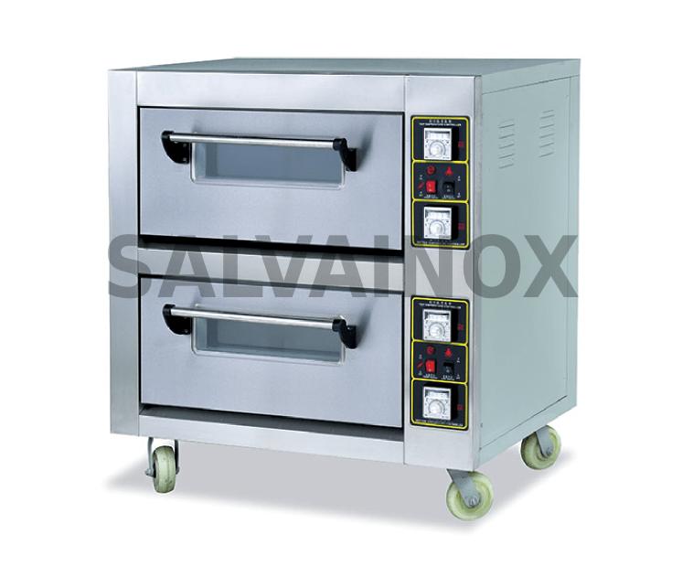 Horno 4 4 pizzas 30 cm la bomba maquinaria hosteleria for Medidas de hornos electricos